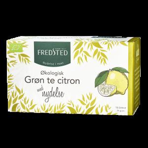 fredsted grøn te med Citron Økologisk