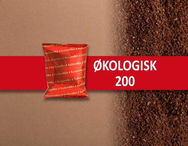 Økologisk 200 gr malet kaffe